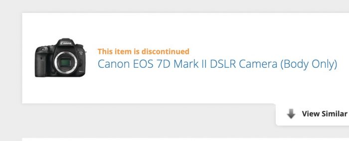 Is the Canon 7D Product Line Dead?