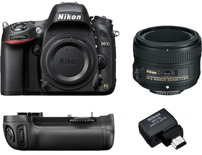 Deal: Nikon D610 Kit w/ 50mm f/1.8 Lens for $896
