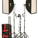Smith-Victor KSBQ-2600 1100W Pro Soft Box 3-Light Kit w/Accent Light
