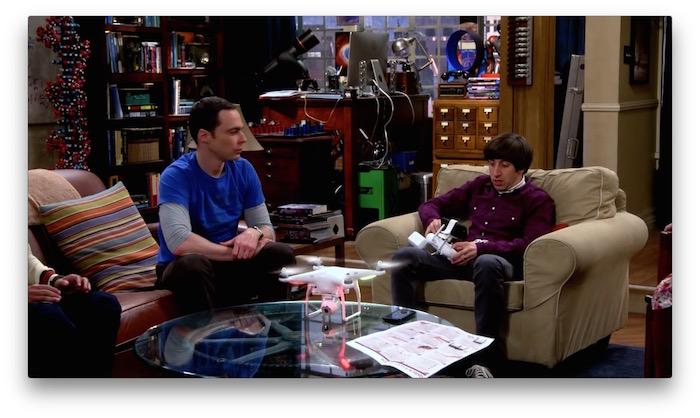 A Dji Phantom Drone Landed On Big Bang Theory Last Week
